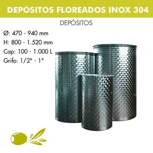 DEPÓSITOS FLOREADOS PARA ACEITE INOX 304