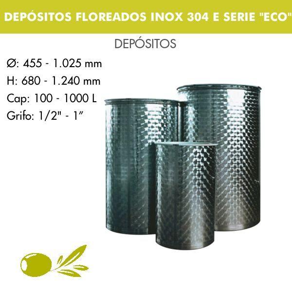 DEPÓSITOS FLOREADOS PARA ACEITE INOX 304 E SERIE ECO