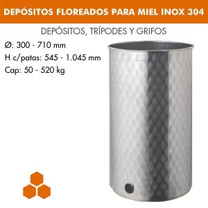 DEPÓSITOS FLOREADOS PARA MIEL INOX 304