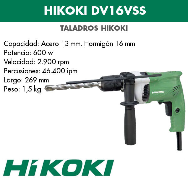 Bohrmaschine Hikoki DV16VSS 600w
