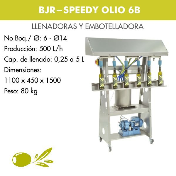 EMBOTELLADORA SPEEDY OLIO 6B