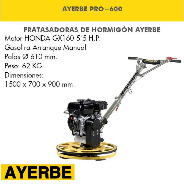 Fratasadora Ayerbe PRO-600