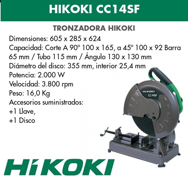 Tronzadora Hikoki CC14SF