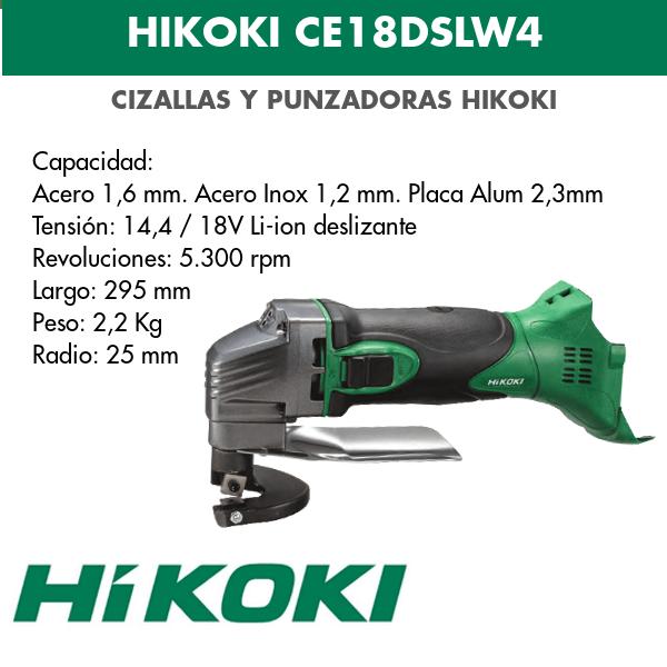 Cizalla a bateria de litio Hikoki CE18DSLW4