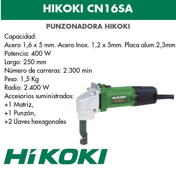 Punzadora eléctrica Hikoki CN16SA