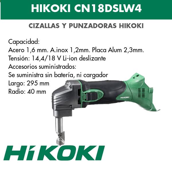 Punzadora a bateria de litio Hikoki CN18DSLW4