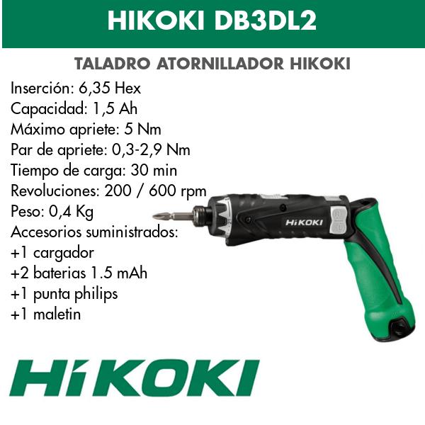 Bohren Sie Treiberbatterie Hikoki DB3DL2 3.6