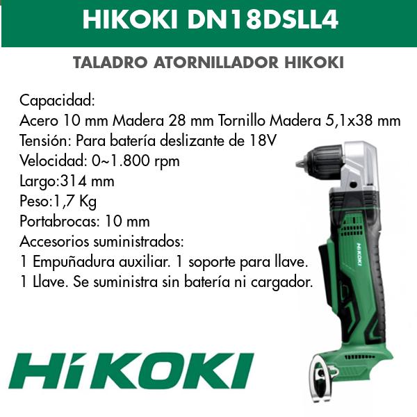 Angular Akku-Bohrschrauber Hikoki DN18DSLL4