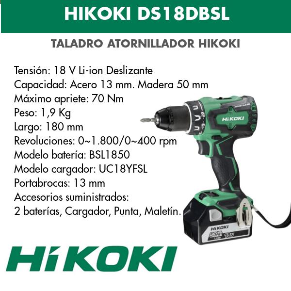 Bohrschraubendreher Akku Hikoki DS18DBSL 18v
