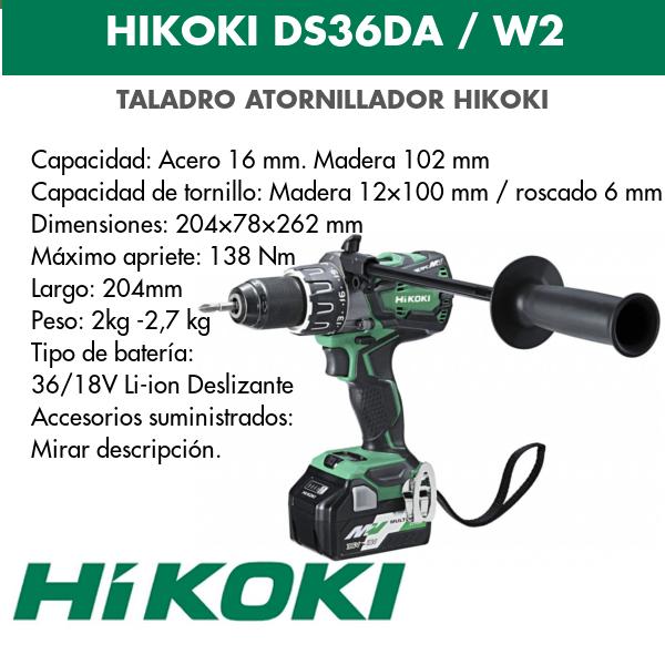 Bohrschraubendreher Akku Hikoki DS36DA und DS36DAW2 18v