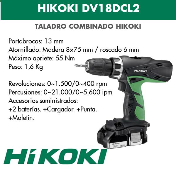 Taladro combinado batería Hikoki DV18DCL2 18v