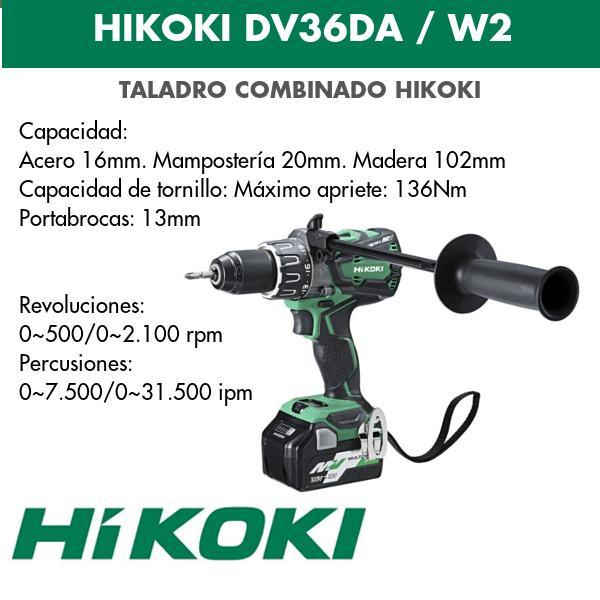 Taladro combinado batería Hikoki DV36DA