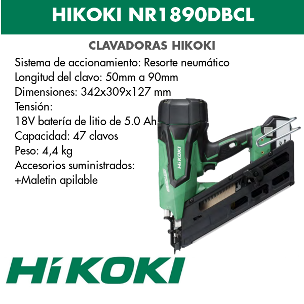 Hikoki lithium-ion battery pack NR1890DBCL