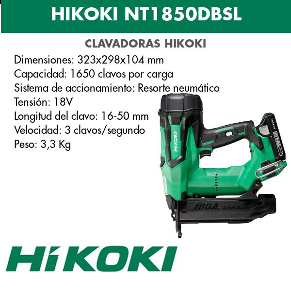 Hikoki lithium battery nailer NT1850DBSL