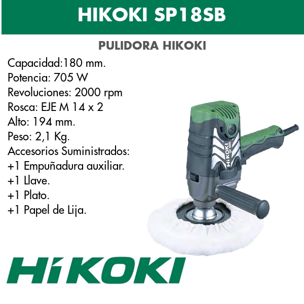 Hikoki Polierer SP18SB