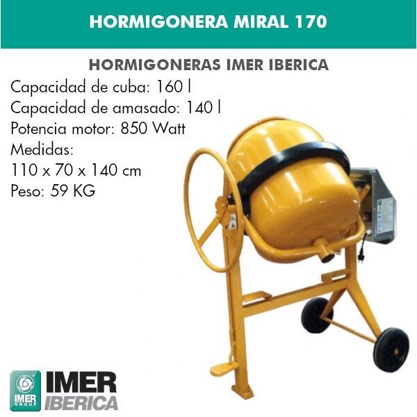 HORMIGONERA MIRAL 170