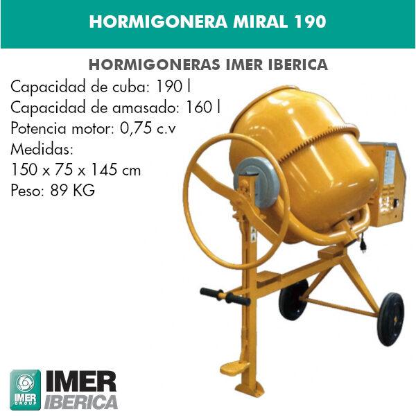 HORMIGONERA MIRAL 190