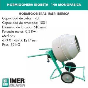 HORMIGONERA RIOBETA-140 MONOFÁSICA