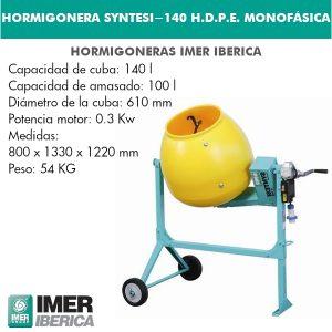 HORMIGONERA SYNTESI-140 H.D.P.E MONOFÁSICA