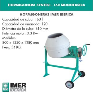 HORMIGONERA SYNTESI-160 MONOFÁSICA