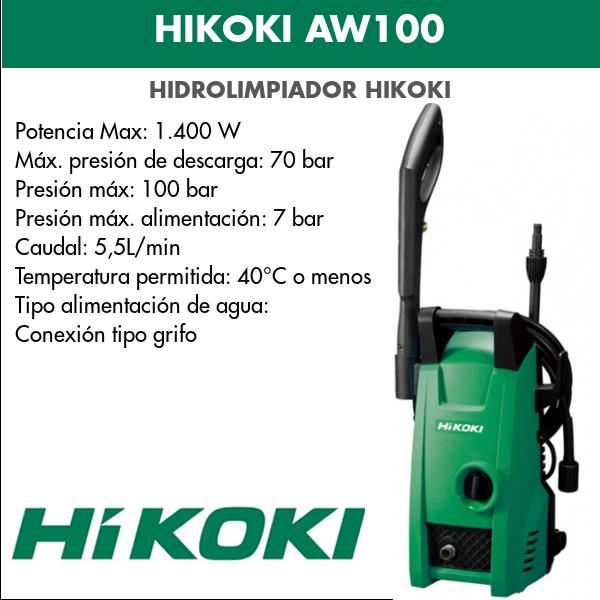 Hidrolimpiador HIKOKI AW100