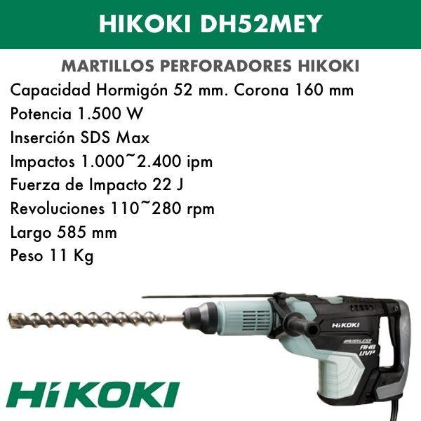 Martillo perforador combinado antivibración Hikoki DH52MEY