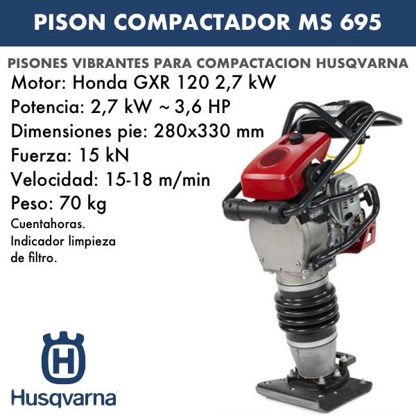 Pison Compactador Husqvarna MS 695