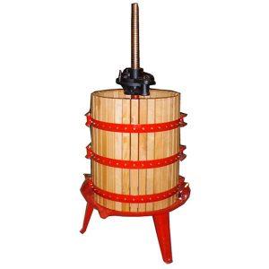 Prensa de vino manual de madera