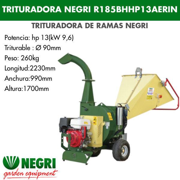 Trituradora de ramas Negri R185BHHP13AERIN