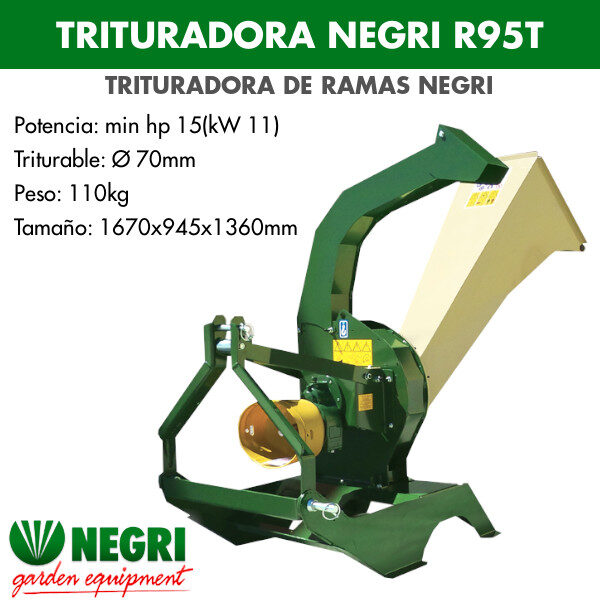 Trituradora de ramas Negri R95T
