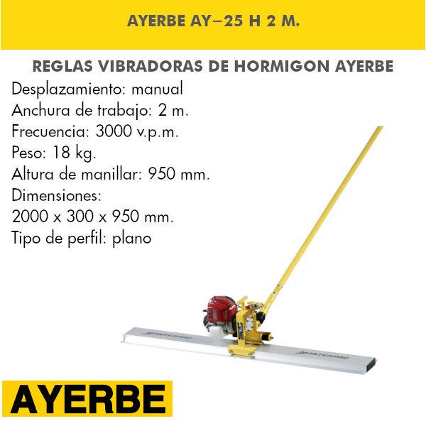Regla Vibrante Ayerbe AY-25 Honda 2 M