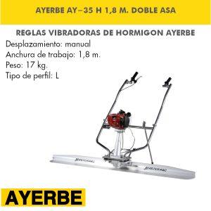 Regla Vibrante Ayerbe AY-35 Honda 1,8 M Doble Asa