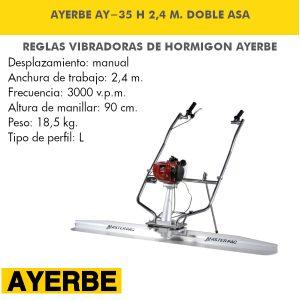 Regla Vibrante AY-35 Honda 2,4 M Doble Asa
