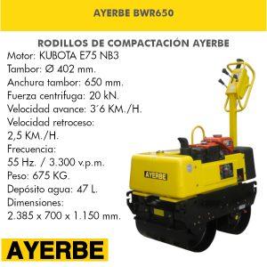 Rodillo Vibratorio Ayerbe BWR650