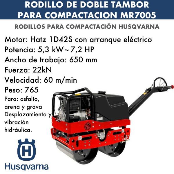 Rodillo de doble tambor para compactación mr7005