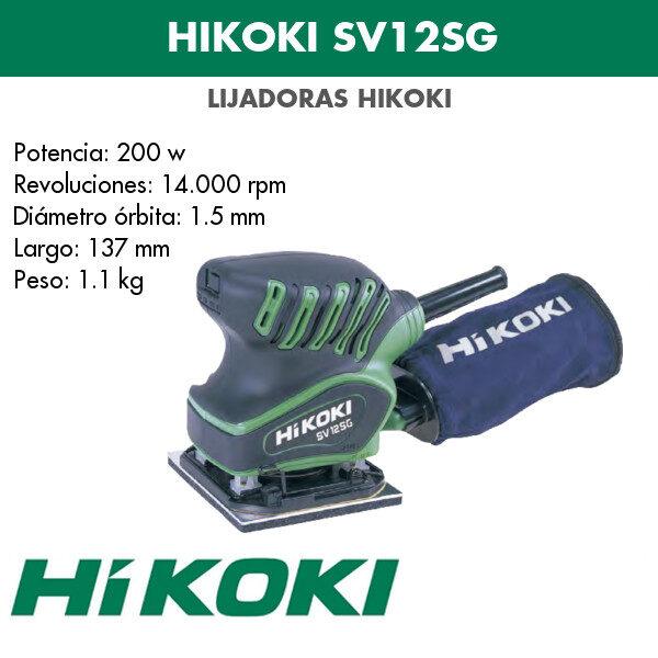 Lijadora Hikoki SV12SG