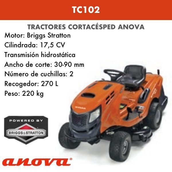 Tractor cortacésped Anova TC102