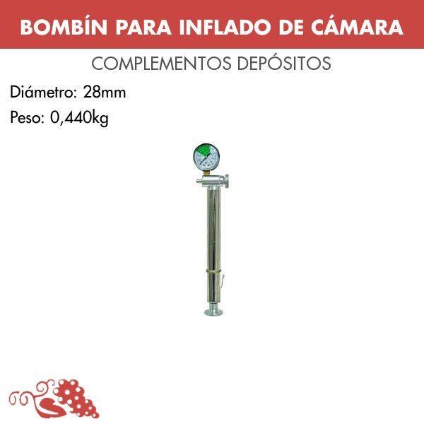 Bombín para inflado de cámara DSLL 00500