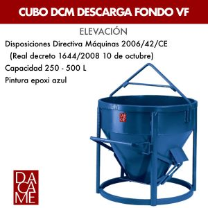 Cubo DCM descarga fondo Dacame VF