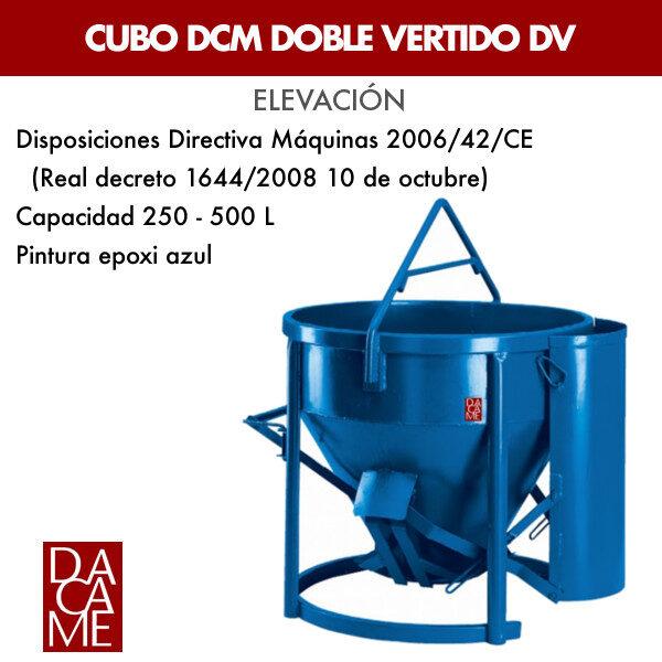 Cubo DCM doble vertido Dacame DV