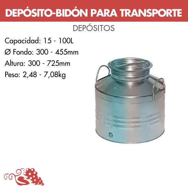 Depósito-bidón para transporte (soldado)