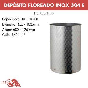 """Depósito para vino floreados inox 304 E serie """"Eco"""" con cierre neumático"""