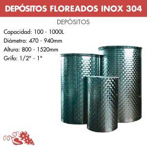 Depósito para vino floreados inox 316 con cierre neumático