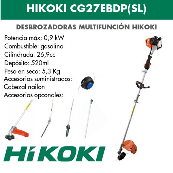 desbrozadora hikoki CG27EBDP(SL)