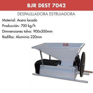 Despalilladora estrujadora manual acero lacado para uva BJR DEST 7042