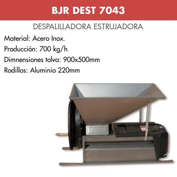 Despalilladora estrujadora acero inox manual BJR DEST 7043
