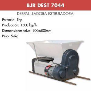 Despalilladora estrujadora motor lacada para uva BJR DEST 7044