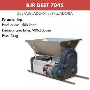 Despalilladora estrujadora motor semi-inox para uva BJR DEST 7045