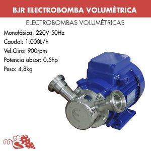 Eletrobomba volumétrica con inversor de velocidad y bypass