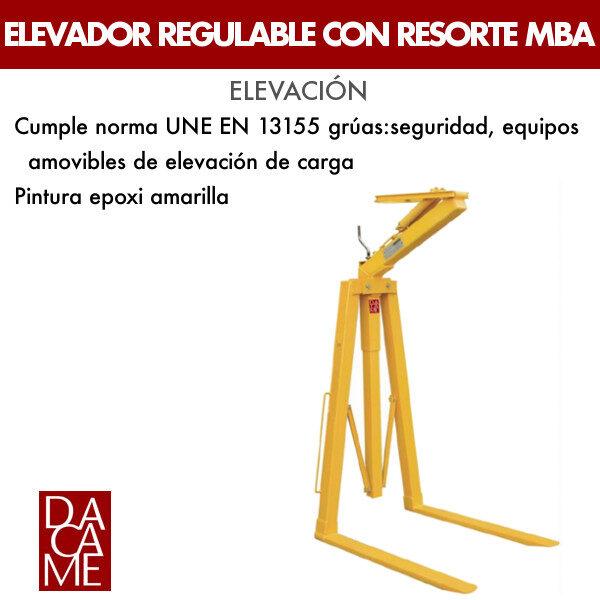 Elevador regulable con resorte Dacame MBA